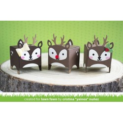 LAWN FAWN TINY GIFT BOX DEER ADD ON DIES