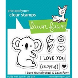 LAWN FAWN I LOVE YOU CALYPTUS STAMPS