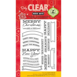 Hero Arts Clear Stamps Banners and Messages