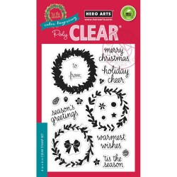 Hero Arts Clear Stamps COLOR LAYERING WREATH