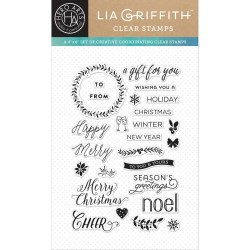 Hero Arts Clear Stamps HAPPY MERRY MESSAGES