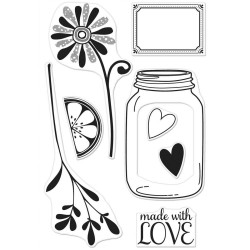 Hero Arts Clear Stamps LOVE JAR