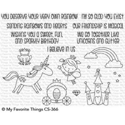 My favorite Things : RAINBOWS AND UNICORNS CLEAR STAMPS