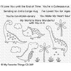 My favorite Things : CUTIEASAURAUS CLEAR STAMPS