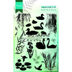 MARIANNE DESIGN CLEAR STAMPS SILHOUETTE WETLANDS