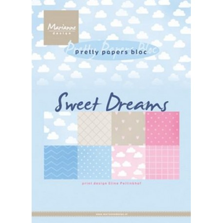MARIANNE D PAPER PAD ELINES SWEET DREAMS, 15x21 cm