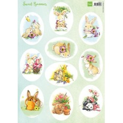 MARIANNE D DECOUPAGE SHEET, SWEET BUNNIES