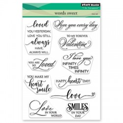 PENNY BLACK Clear Stamps - WORDS SWEET