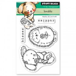PENNY BLACK Clear Stamps - LOVEABLE
