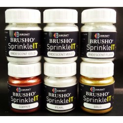 BRUSHO SPRINKLE IT, PACK 6 ASSORTED COLORS