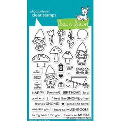 LAWN FAWN CLEAR STAMPS OH GNOME !