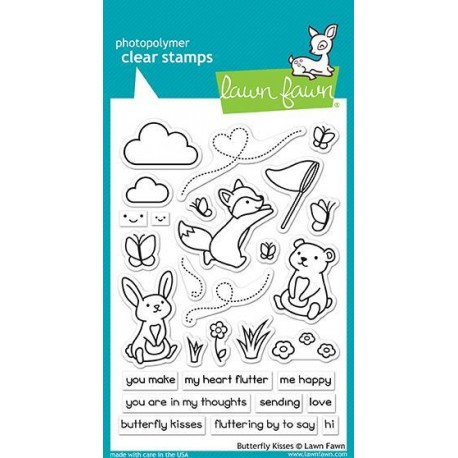 LAWN FAWN CLEAR STAMPS BUTTERFLY KISSES
