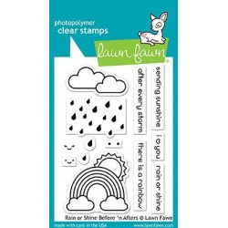 LAWN FAWN CLEAR STAMPS & DIES SET RAIN OR SHINE