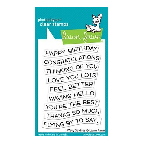 LAWN FAWN CLEAR STAMPS WAVY SAYINGS