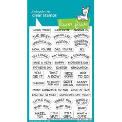 LAWN FAWN CLEAR STAMPS REVEAL WHEEL SPRING SENTIMENTS