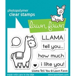 LAWN FAWN CLEAR STAMPS & DIES SET LLAMA TELL YOU