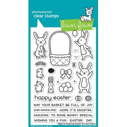 LAWN FAWN CLEAR STAMPS EGGSTRA AMAZING EASTER
