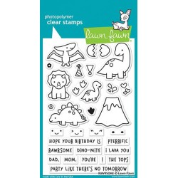 LAWN FAWN CLEAR STAMPS  RAWRSOME