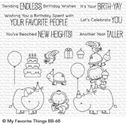 My favorite Things :BIRTH-YAY CLEAR STAMPS