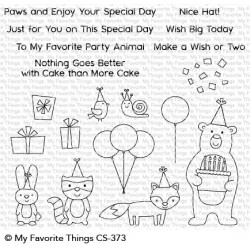 My favorite Things :BIRTHDAY BEAR & FRIENDS CLEAR STAMPS
