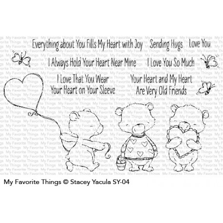 My favorite Things :HEART BEARS CLEAR STAMPS