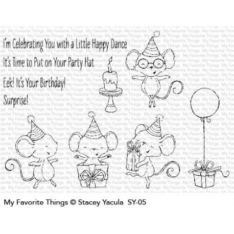 My favorite Things :ITS A MICE TIME TO CELEBRATE CLEAR STAMPS