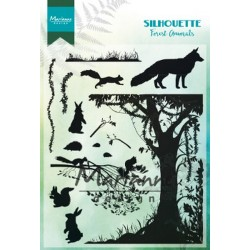 MARIANNE DESIGN CLEAR STAMPS SILHOUETTE FOREST ANIMALS