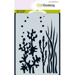 CRAFTEMOTIONS mask stencil OCEAN PLANTS