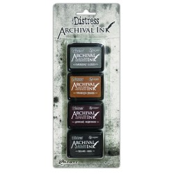 TIM HOLTZ DISTRESS® ARCHIVAL MINI INK KIT 3