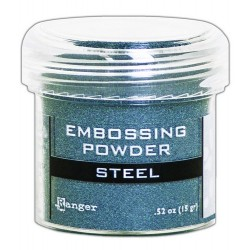 Ranger Embossing Powder 34ml - Metallic STEEL