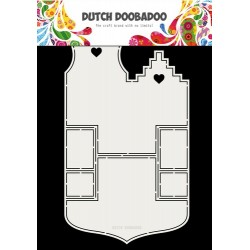 Dutch Doobadoo Fold card art Small houses A4