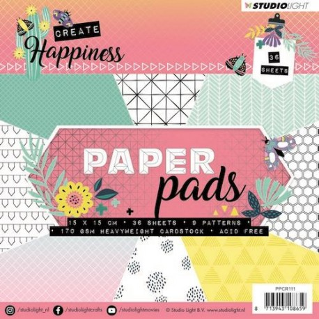 STUDIO LIGHT  PAPER PAD CREATE HAPPINESS 111