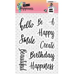 STUDIO LIGHT CLEARSTAMP CREATE HAPPINESS 346