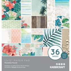 KAISERCRAFT PARADISE FOUND COLL PACK, 30,5 X 30,5 CM, 12