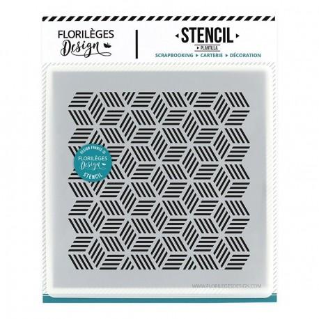 Florileges Design Stencil Pochoir Cubes Rayes Collection Miss