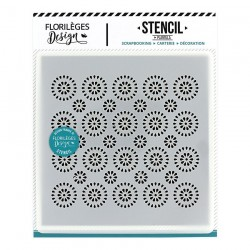 FLORILEGES DESIGN STENCIL Pochoir ROSACES COLLECTION MISS CHARLESTON