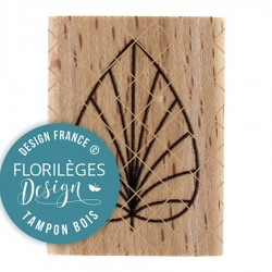 FLORILEGES DESIGN Tampon Bois FEUILLE DECO MISS CHARLESTON