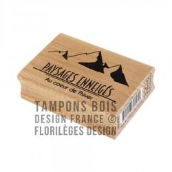 FLORILEGES DESIGN CAPSULE JANV. Tampon Bois PAYSAGES ENNEIGES