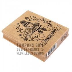 FLORILEGES DESIGN CAPSULE JANV. Tampon Bois PREMIERS FRIMAS