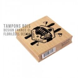 FLORILEGES DESIGN CAPSULE JANV.  Tampon Bois PLAISIRS DE LA GLISSE
