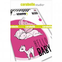 Carabelle cling stamp A6 Hello Baby