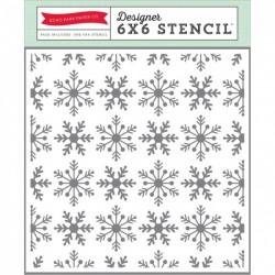 Echo Park Paper I LOVE WINTER SNOWFLAKES STENCIL 15x15 cm