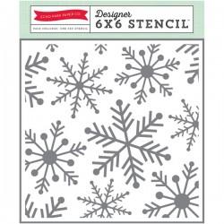 Echo Park Paper  SNOWFLAKES 1 STENCIL 15x15 cm