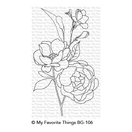 BACKGROUND FRESH-CUT FLOWERS CLING STAMPS