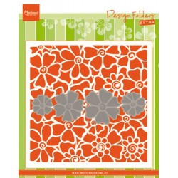 Marianne D Embossing folder & DIES SET POPPIES