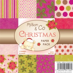 WILD ROSE STUDIO MILTON & CO CHRISTMAS PAPER PACK