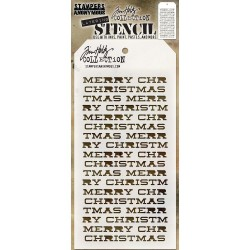 TIM HOLTZ STENCIL MERRY CHRISTMAS