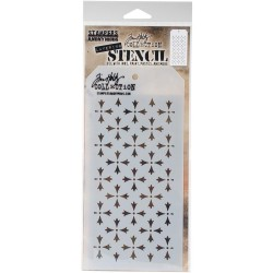 TIM HOLTZ STENCIL CROSSED