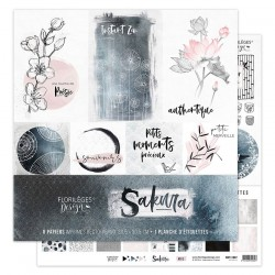 FLORILEGES DESIGN Kit collection SAKURA, 30.5 x 30.5 cm