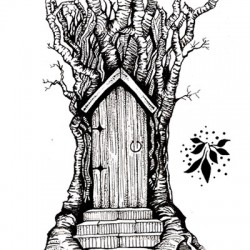Lavinia Stamps FAIRY DOOR